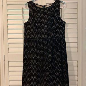 Ann Taylor Loft black eyelet Dress